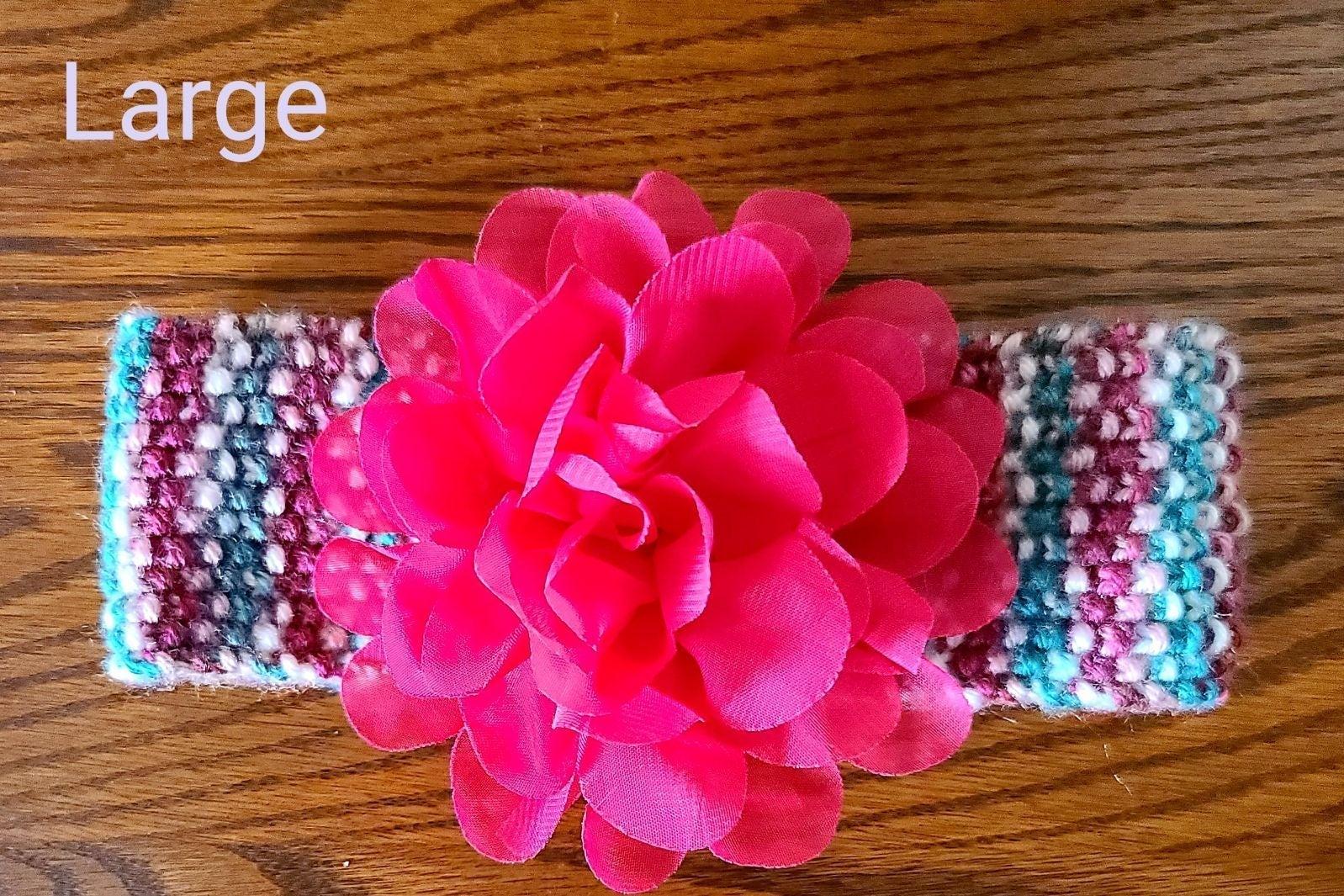 Multicolor Striped Knit Baby Headband wi