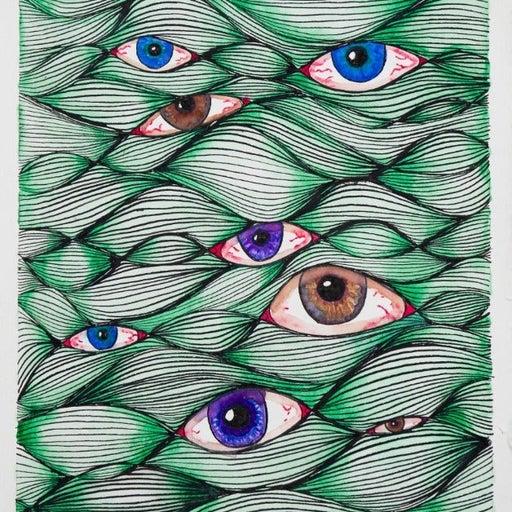"""""""Eye See You"""", Fine Art Print, 8x8"""