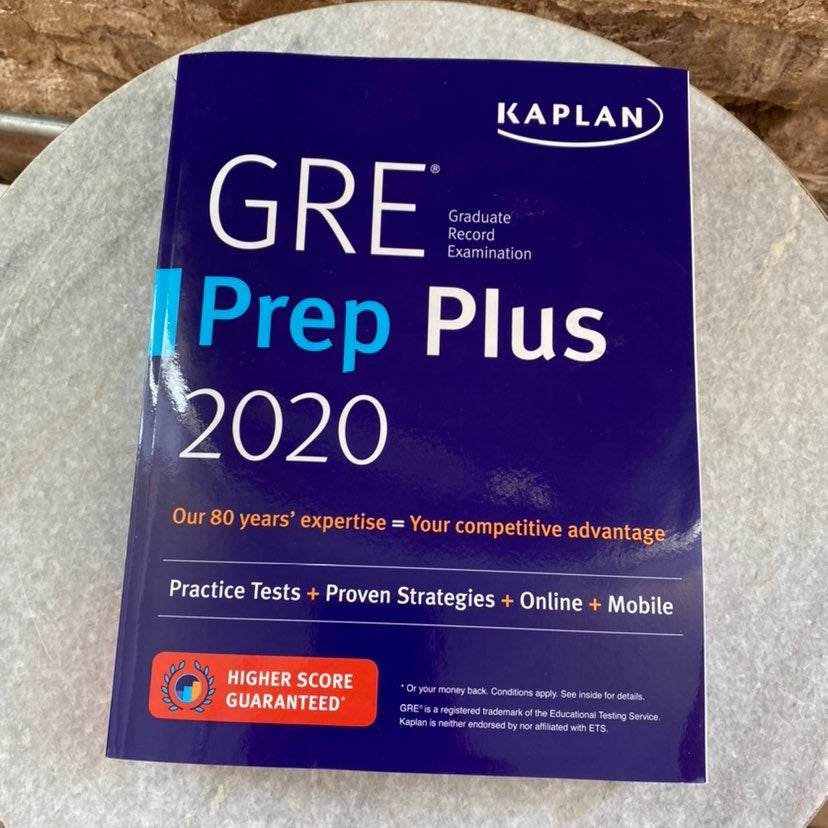 GRE Prep Plus 2020 - New, Never Used