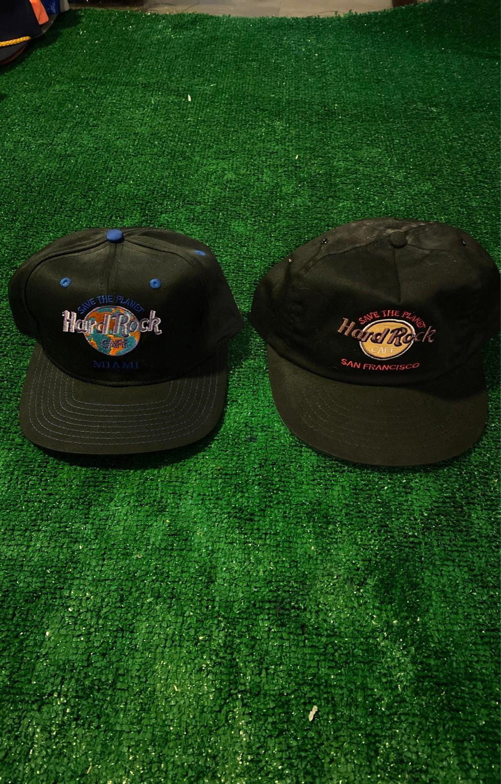Hard rock cafe vintage hat lot san fran