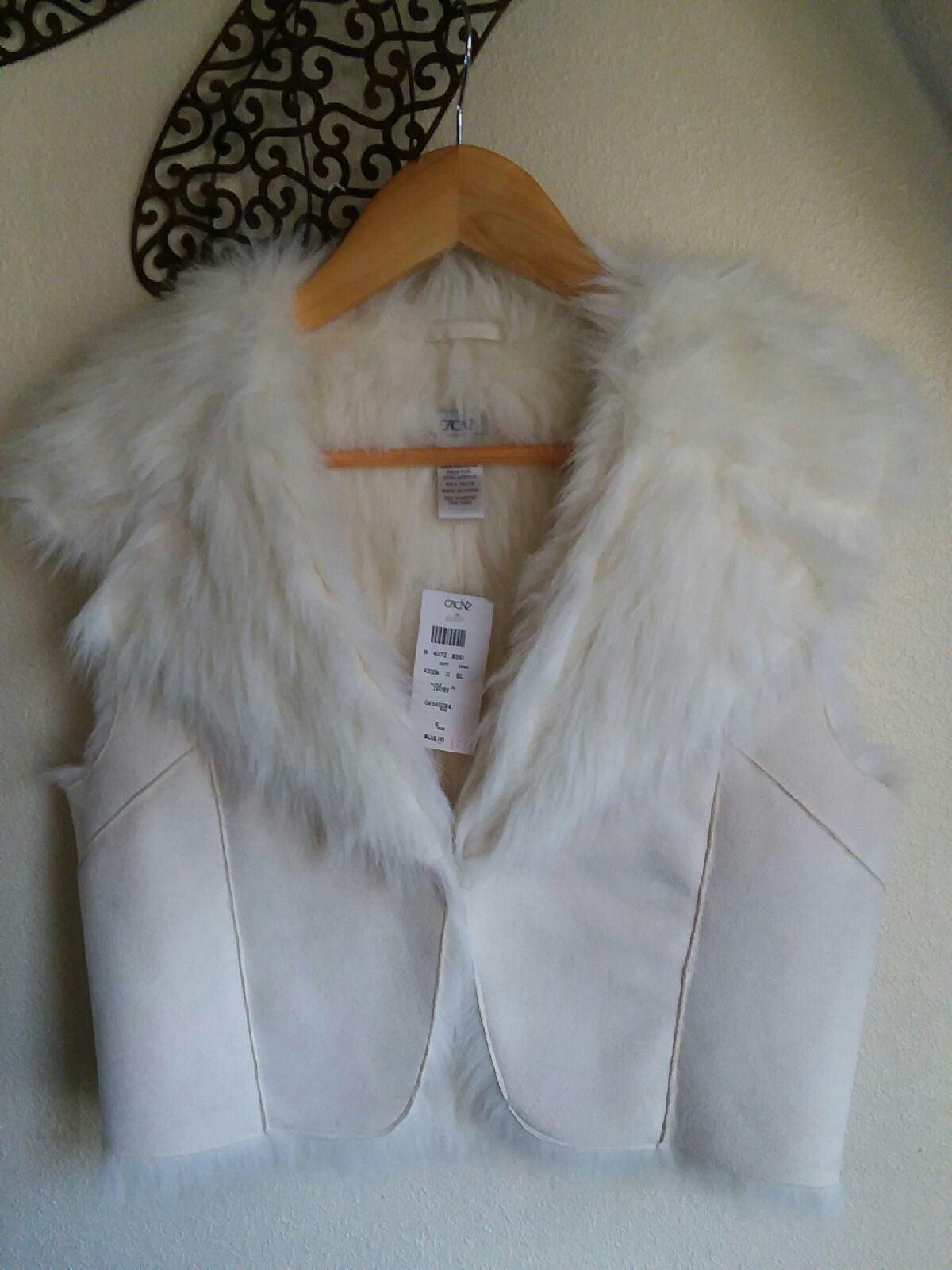 NWT Cache Suede/Fur Vest