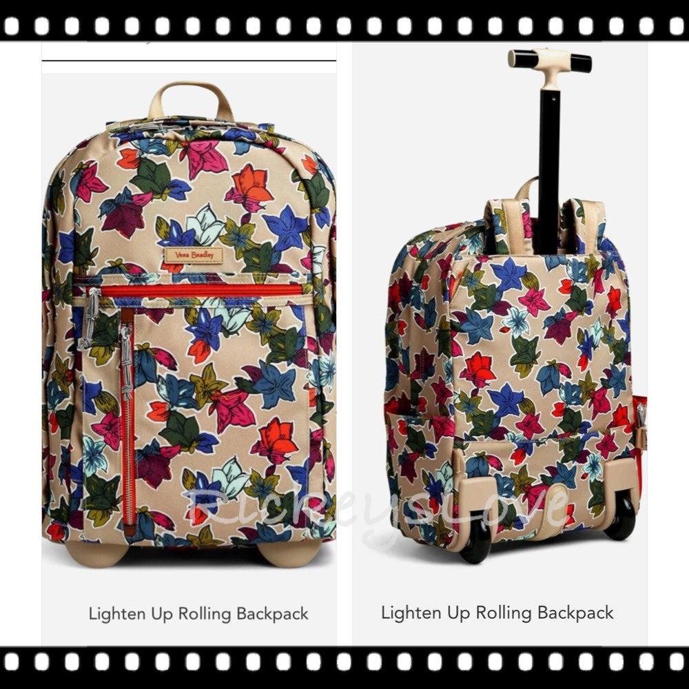 Vera Bradley Luggage Rolling Backpack