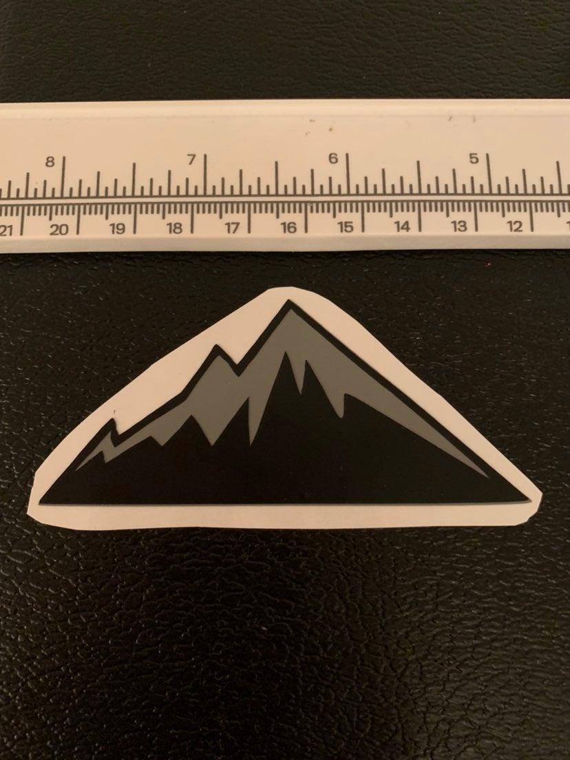 3 inch vinyl mountain sticker decal.
