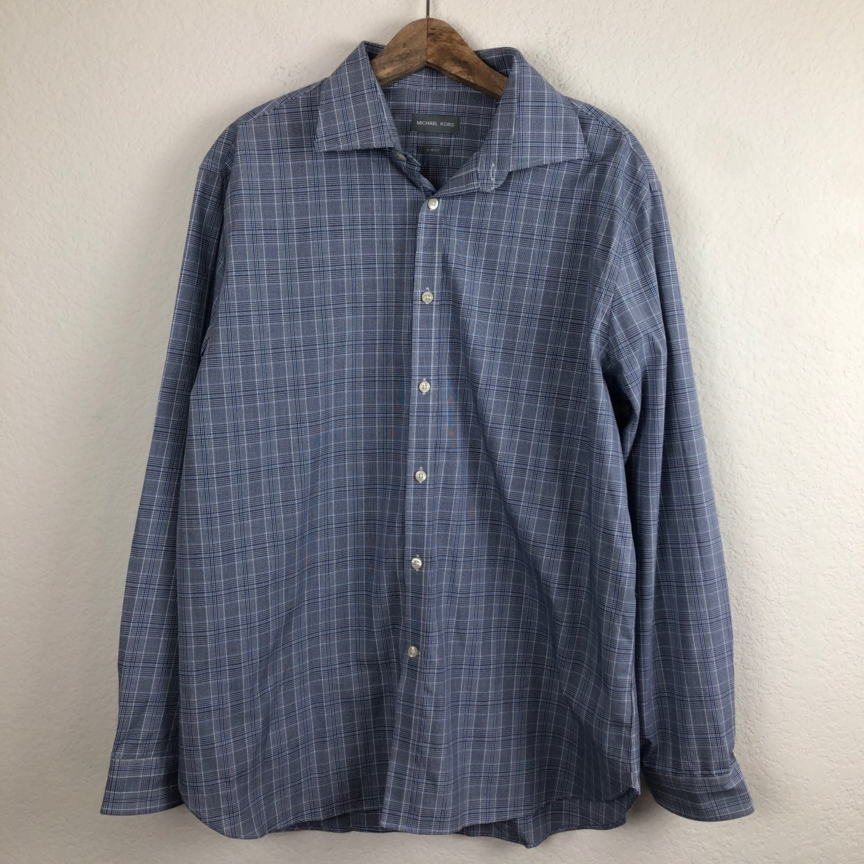 Michael Kors Slim Fit Button Down Shirt