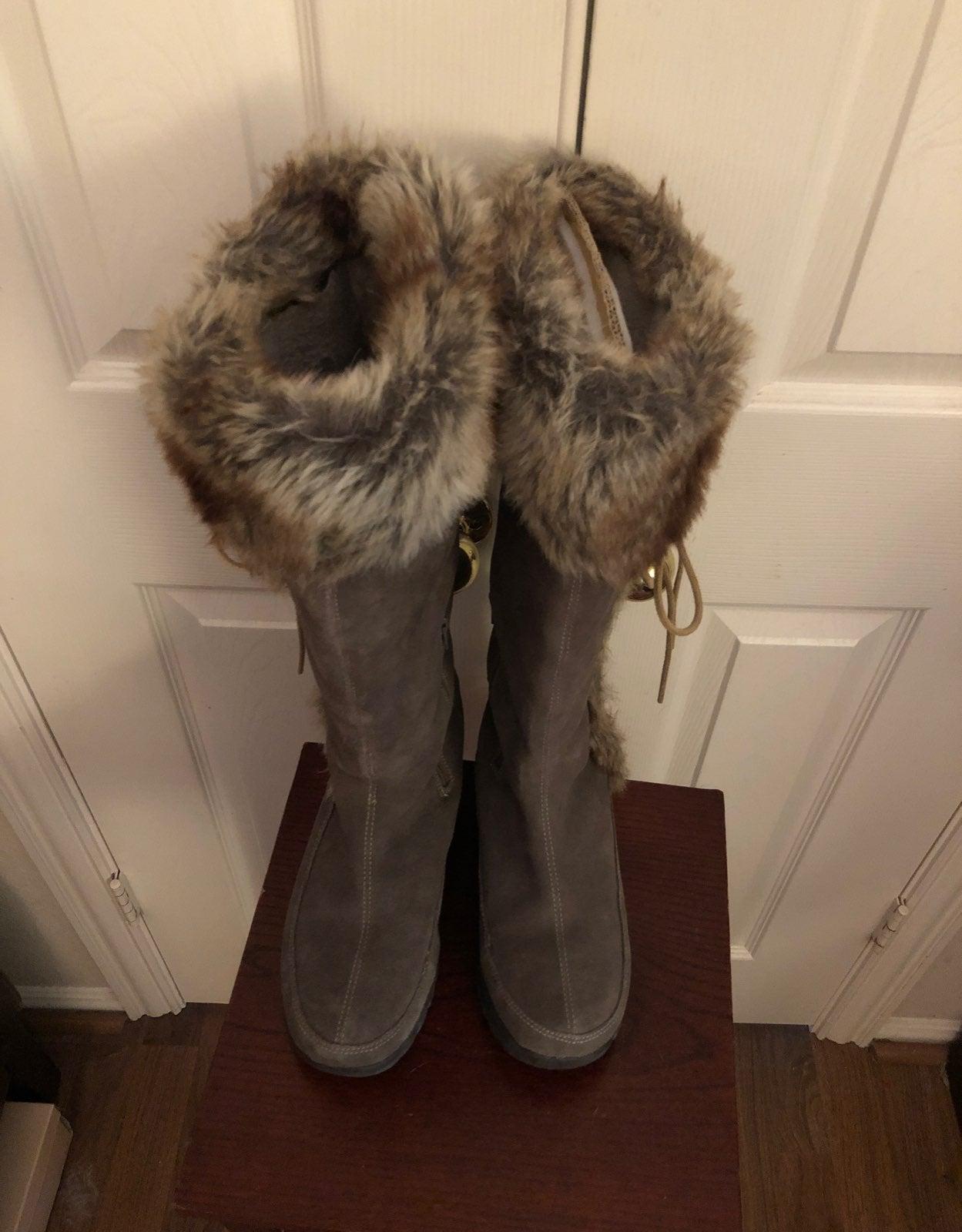 Mountrek Taupe Suede Elk Lodge Boots