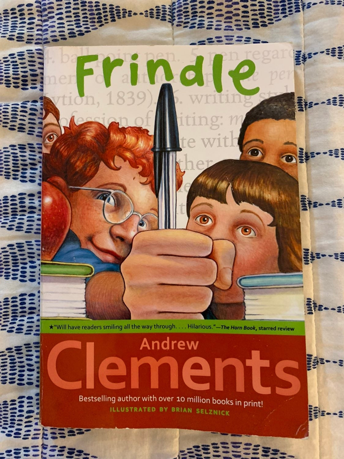 Frindle book by Andrew Clements