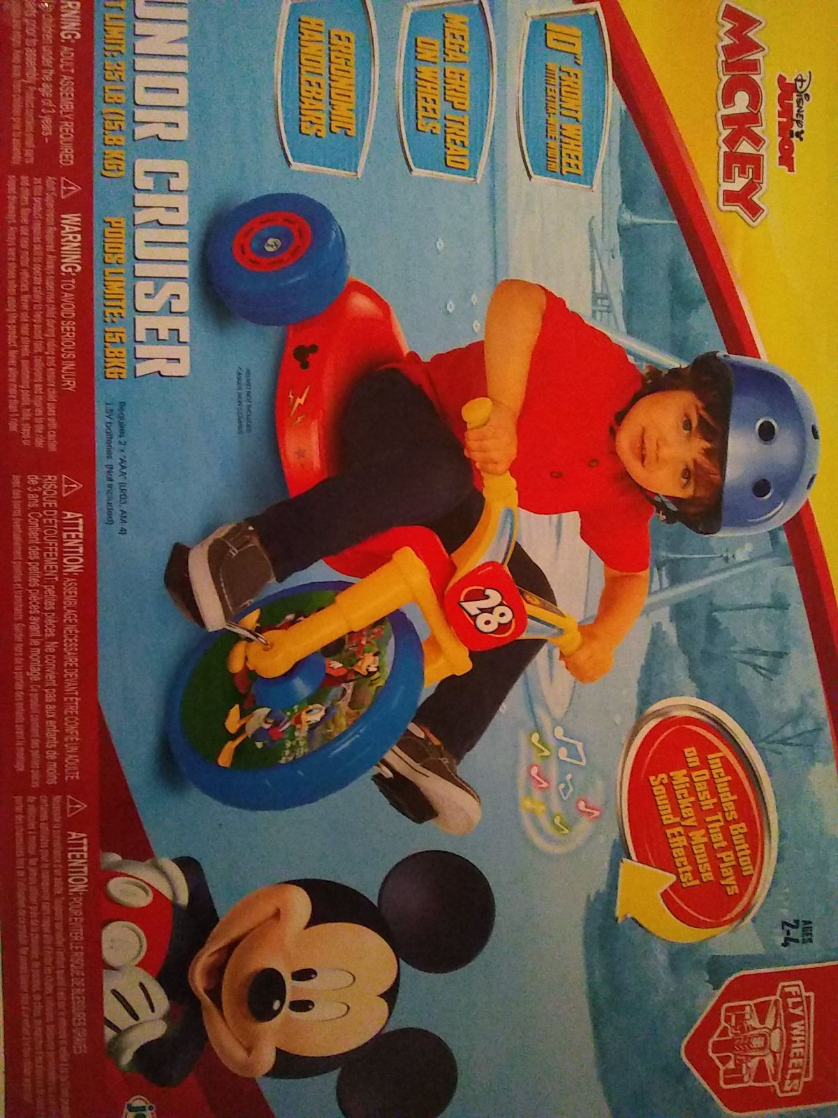 Mickey mouse junior cruiser riding cycle