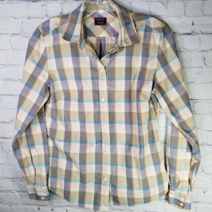 UNTUCKit SOFIA Size 2 Plaid Shirt