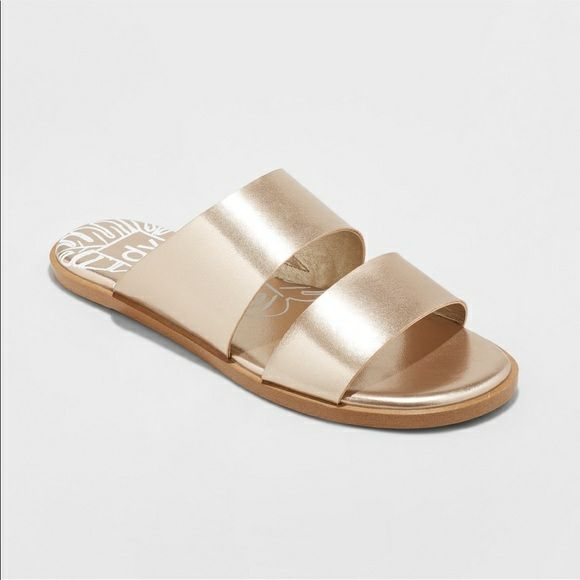 Dolce Vita Gold Kylisa Slide Sandals