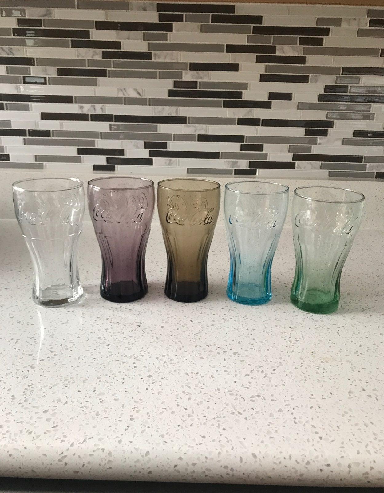 Set of 5- Coca-Cola Glasses