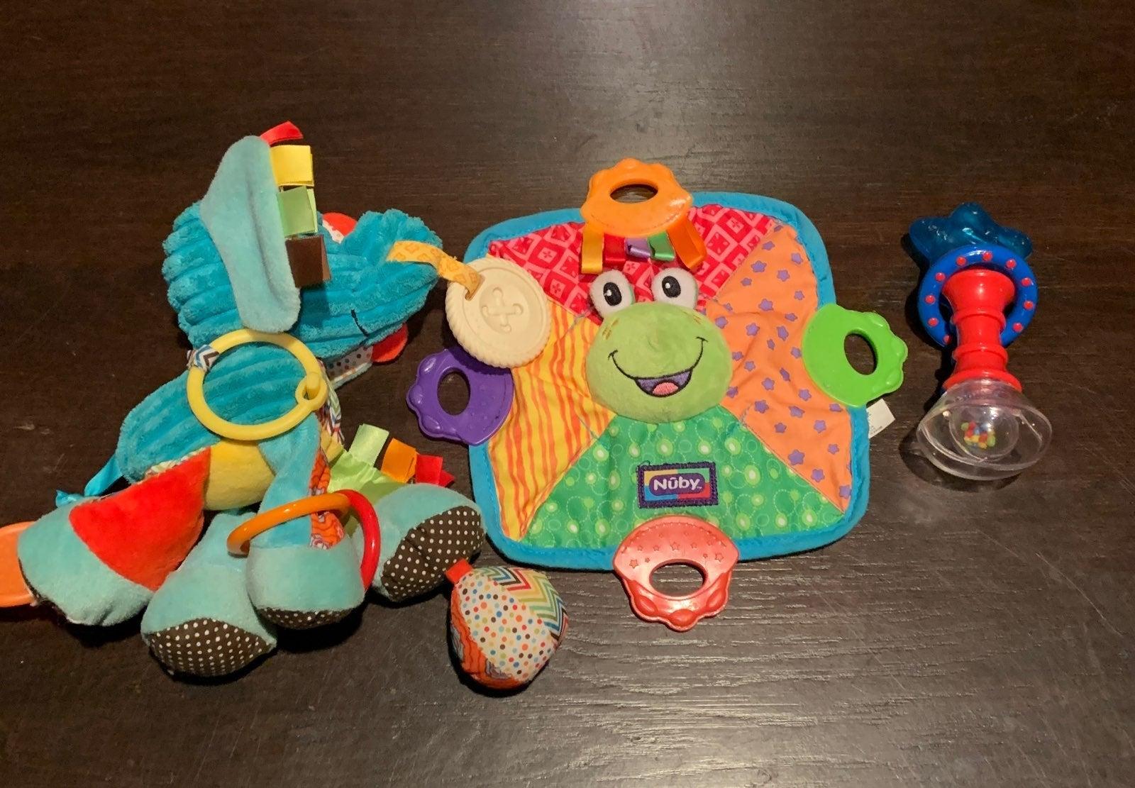 Teething/Plush Sensory Baby Toy Bundle