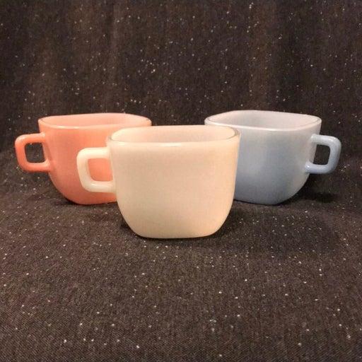 3 Glasbake Lipton Square Mugs