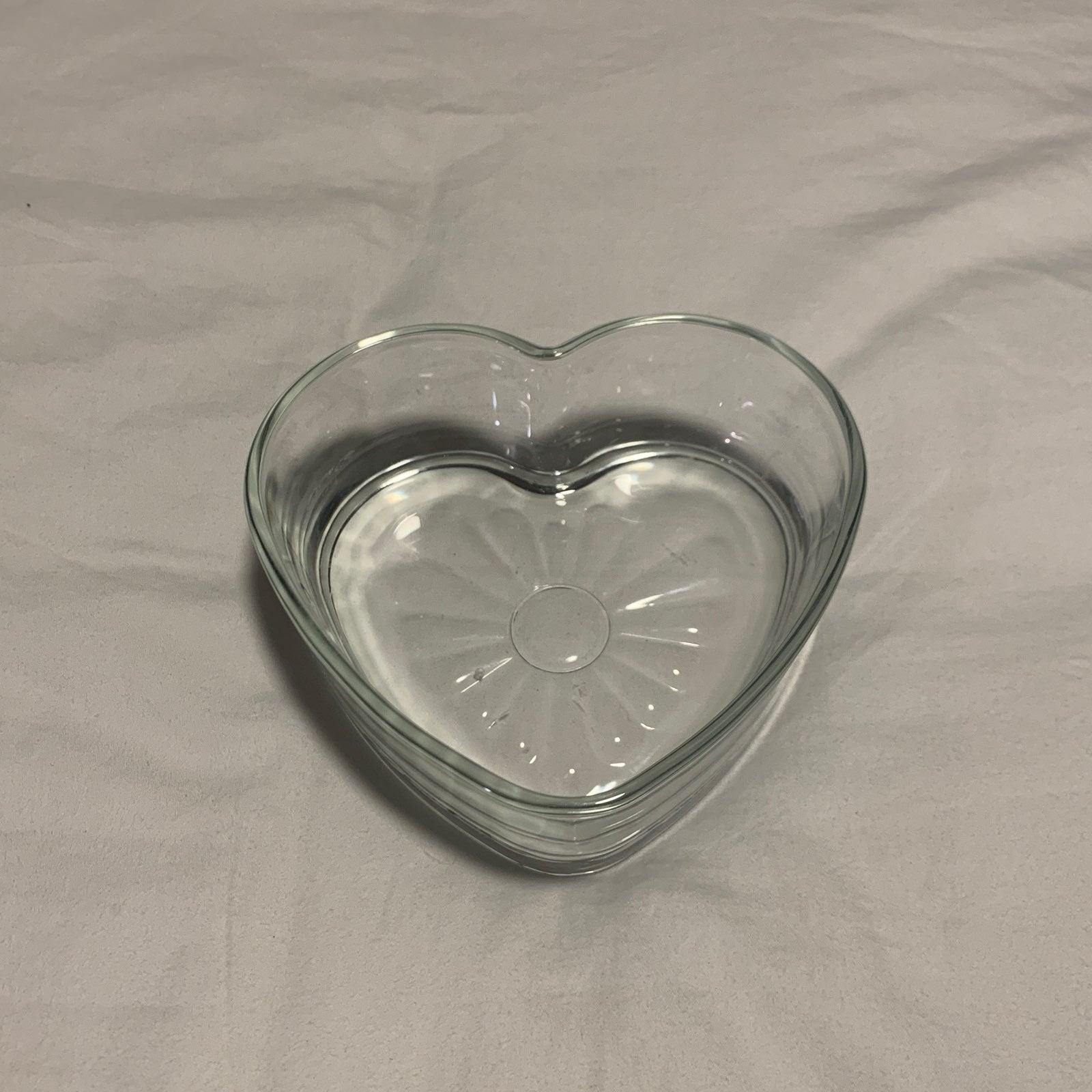Heart Glass Bowl
