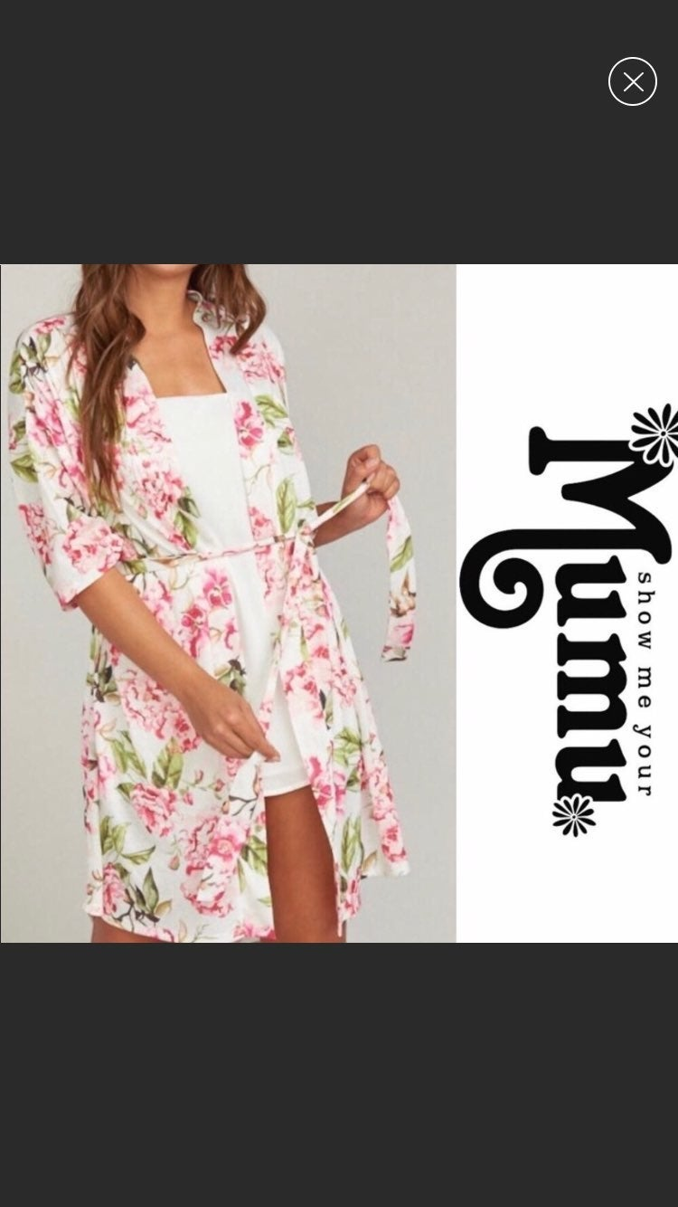 Show Me Your Mumu Robe Garden of Blooms