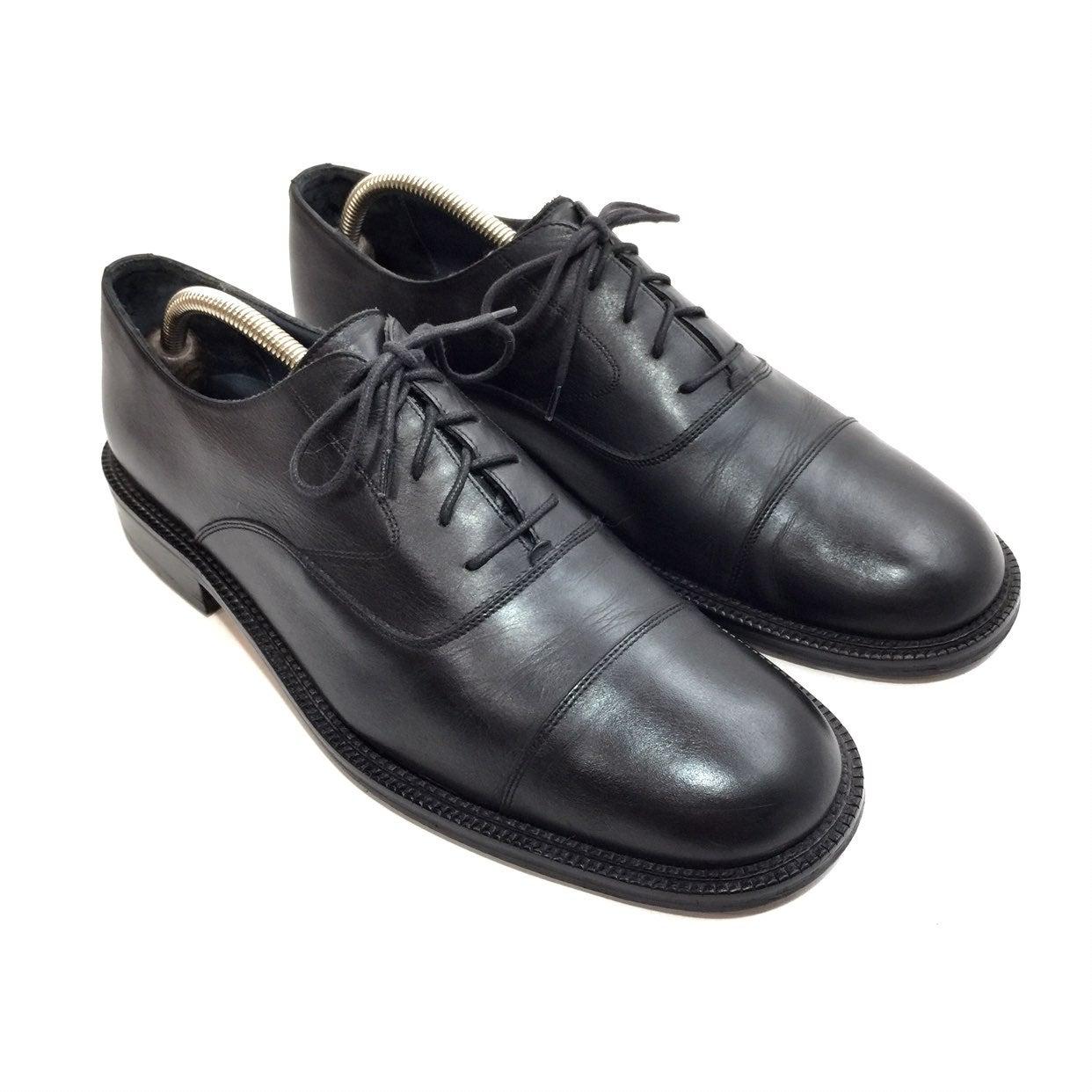 Bruno Magli Black Leather Todd Oxfords