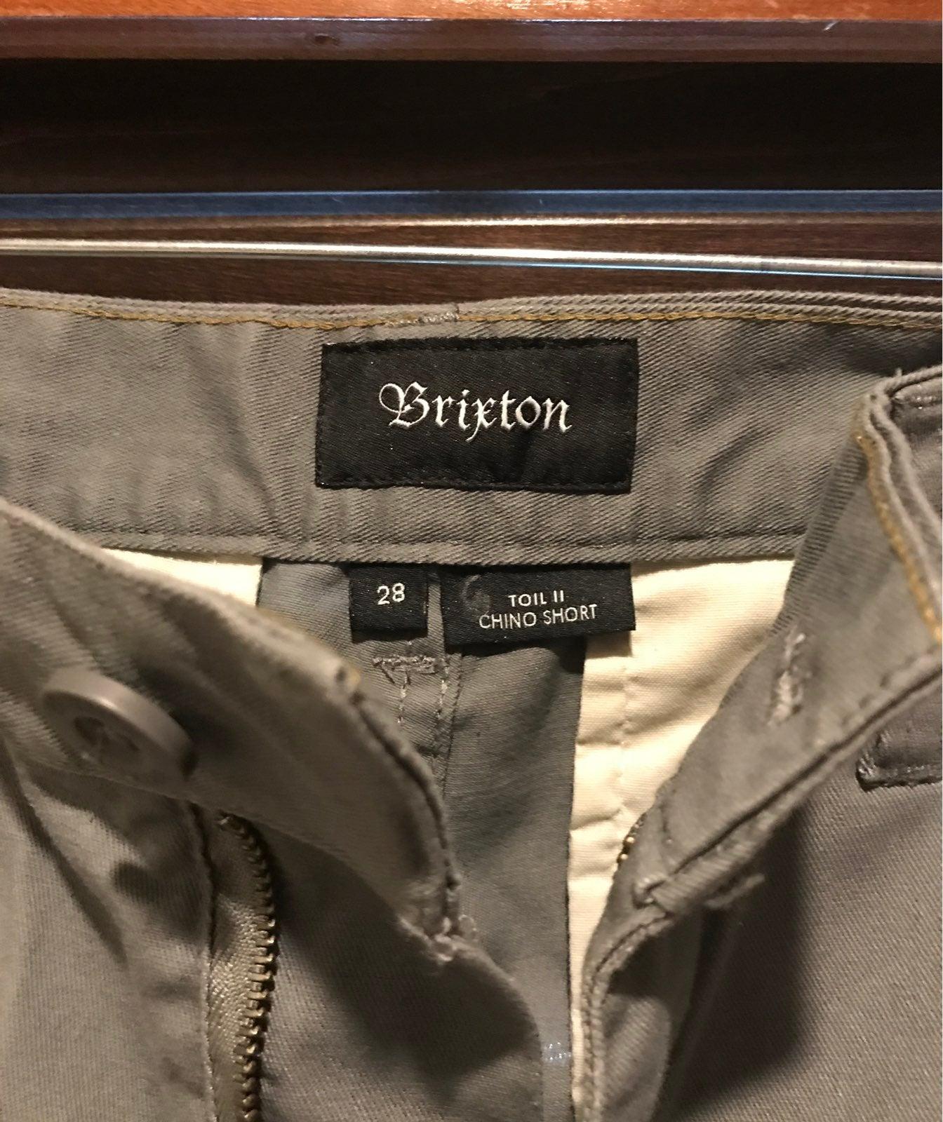 Brixton size 28 Toil II chino shorts