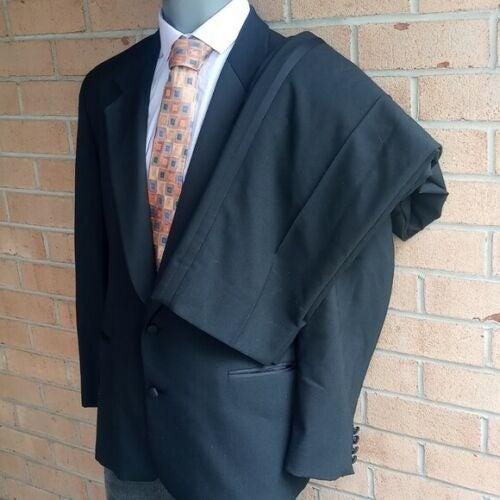 Lanvin Mens Black 2 button Tuxedo 42r