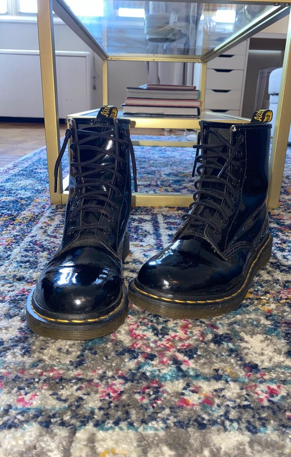 Dr Marten's combat boot patent black