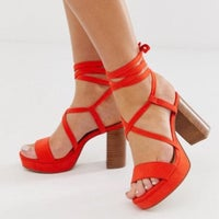 34990525fb1 ASOS Walker Platform Block Heel Sandals