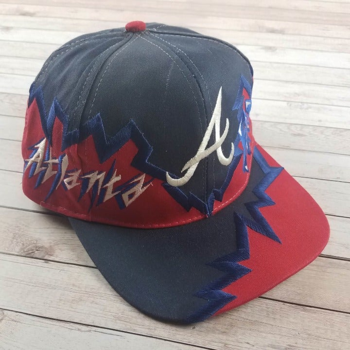 VTG 90s ATL Atlanta Braves Shockwave Hat