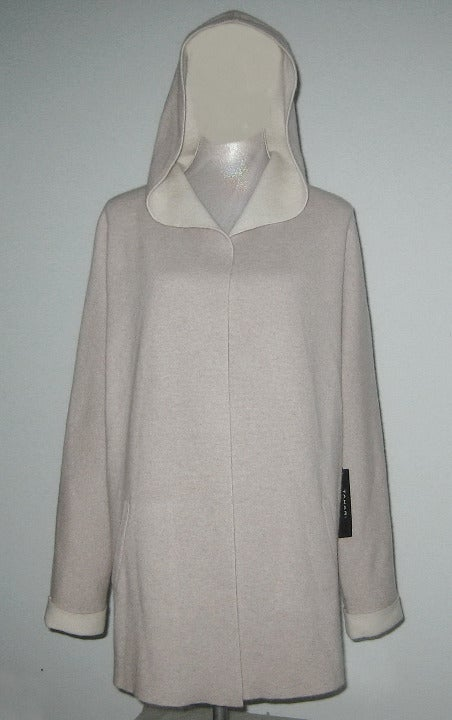 Tahari LUXE CASHMERE Hooded Cardigan L