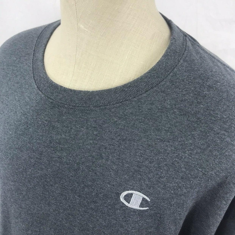 Champion L/S solid gray t shirt mens XL