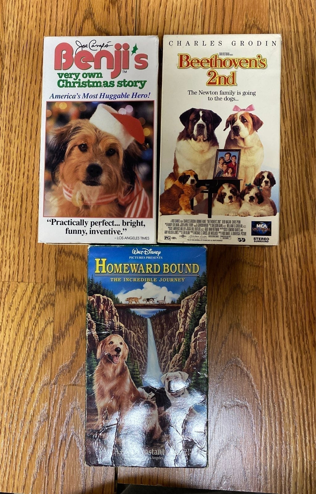 Pack of 3 VHS USED