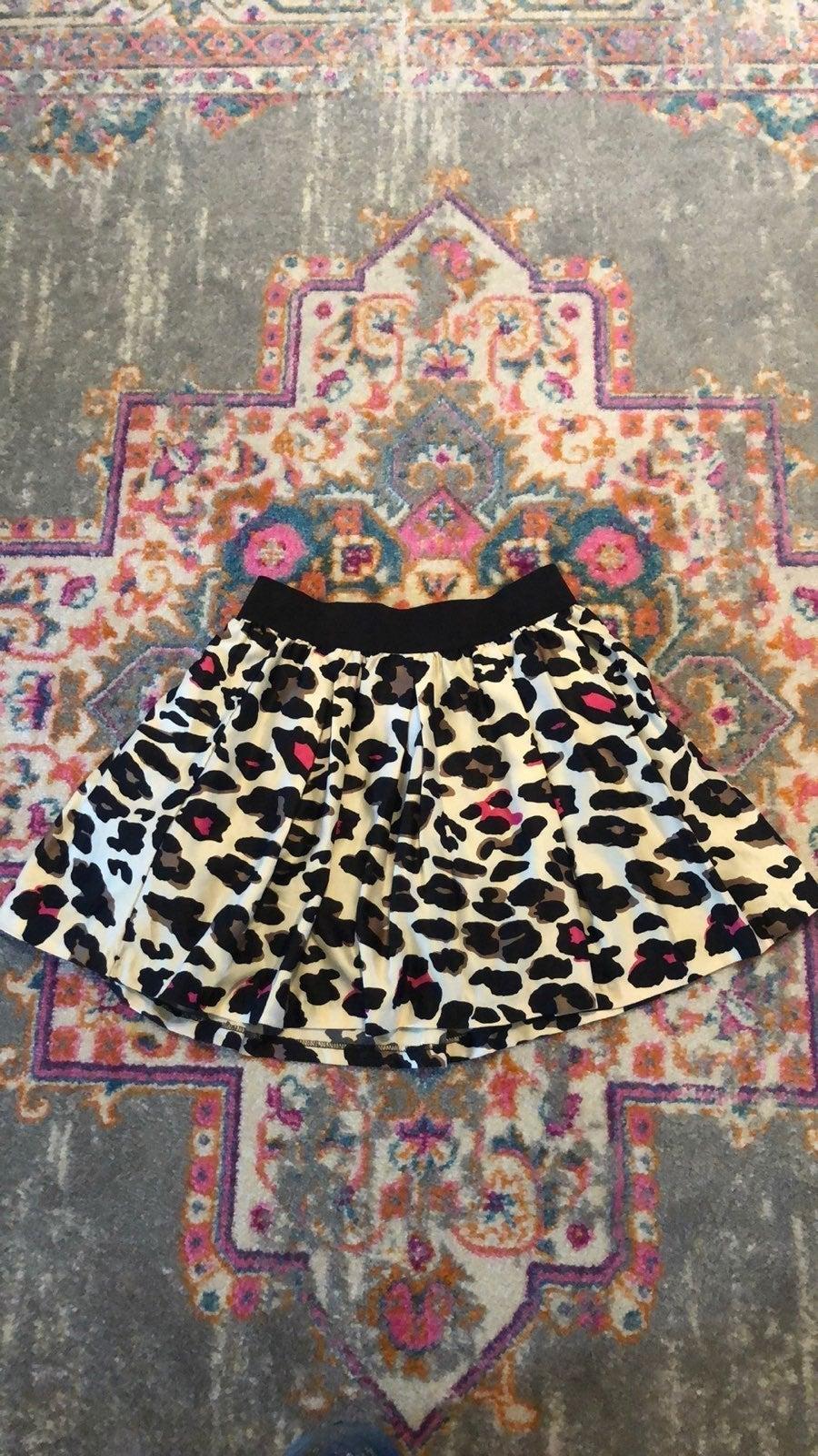 Leopard Print & Tulle Skirt XS