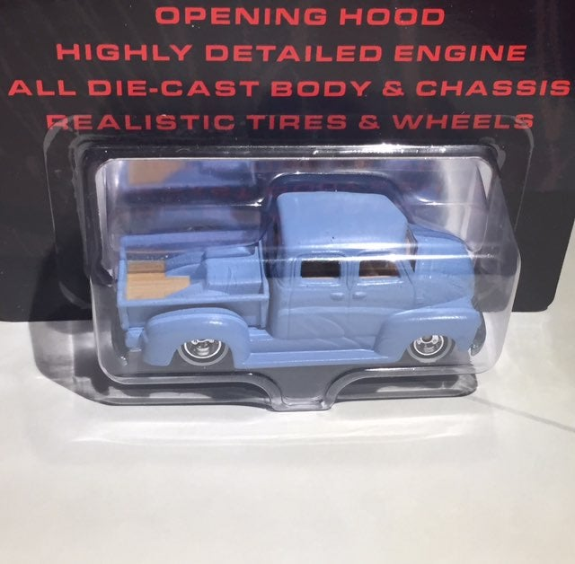 Blue 50 Chevy Cab over Engine Truck