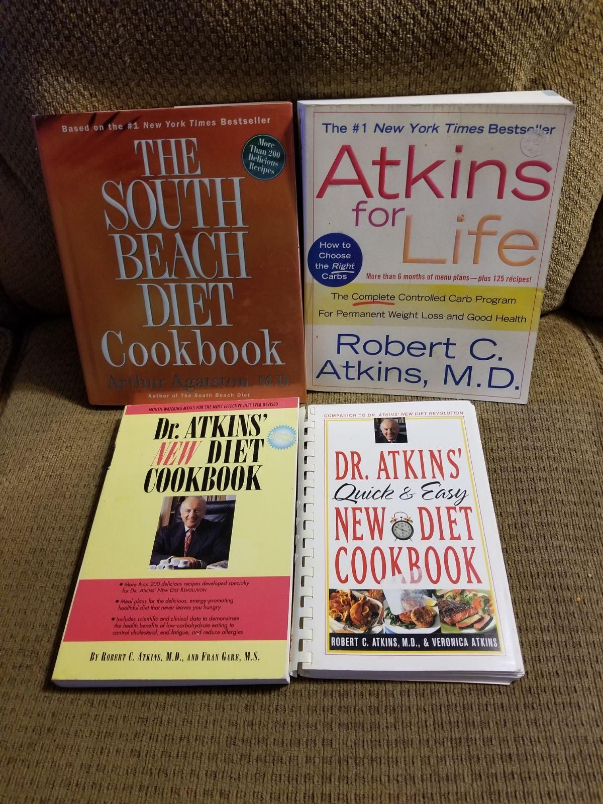 4 Atkins/South Beach Low Carb Cookbooks