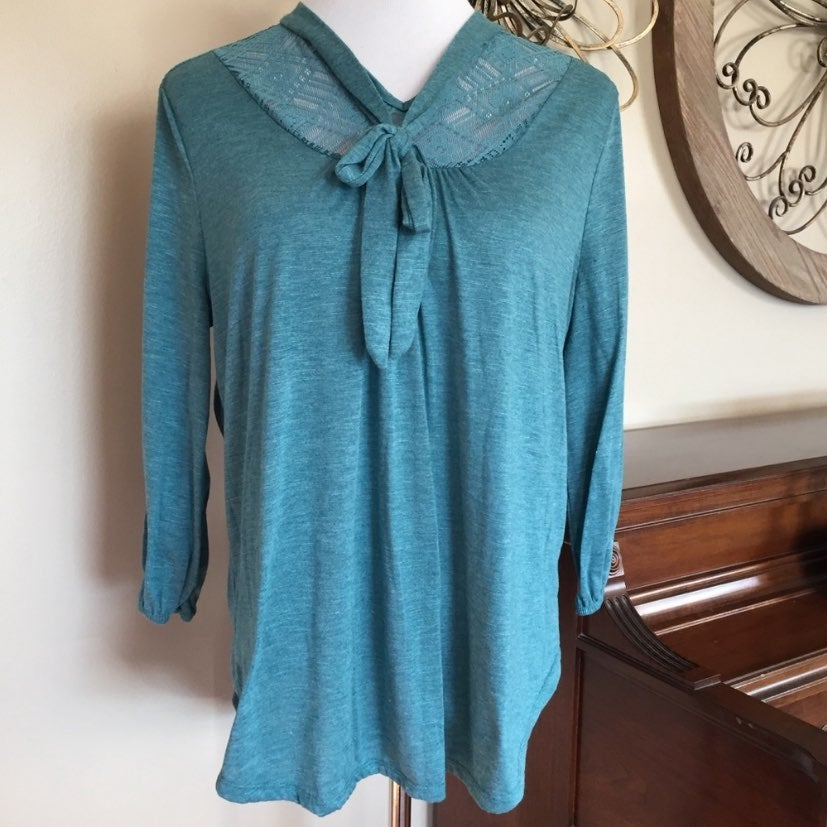 Size XL Tie Neck Womens Blouse Top