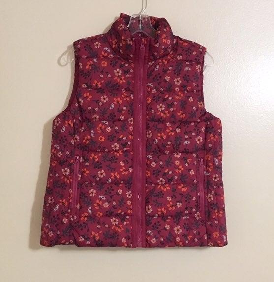 Laura Scott Small Floral Puffer Vest