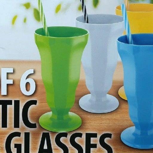 KOVOT plastic soda glasses, 6ea