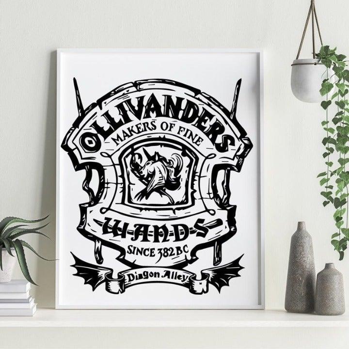 Ollivanders Wands Canvas Wall Art