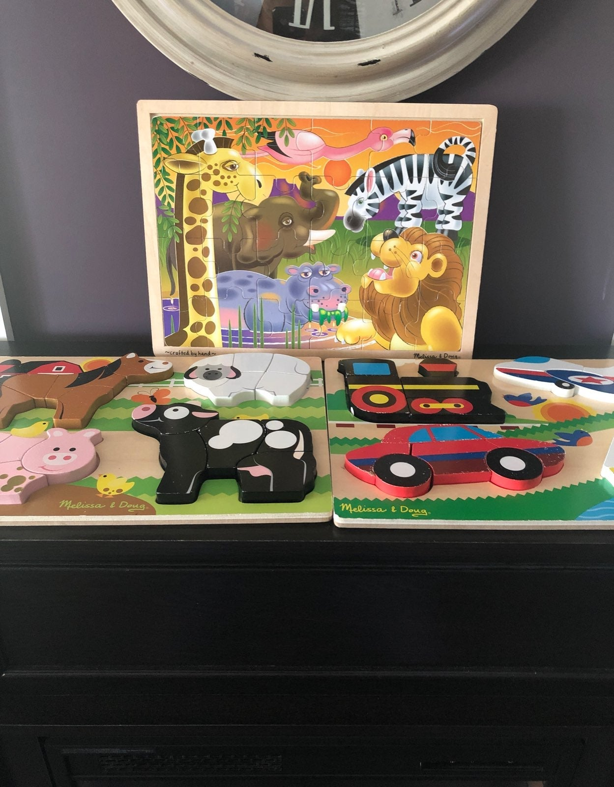 melissa and doug puzzles/fisher price fi