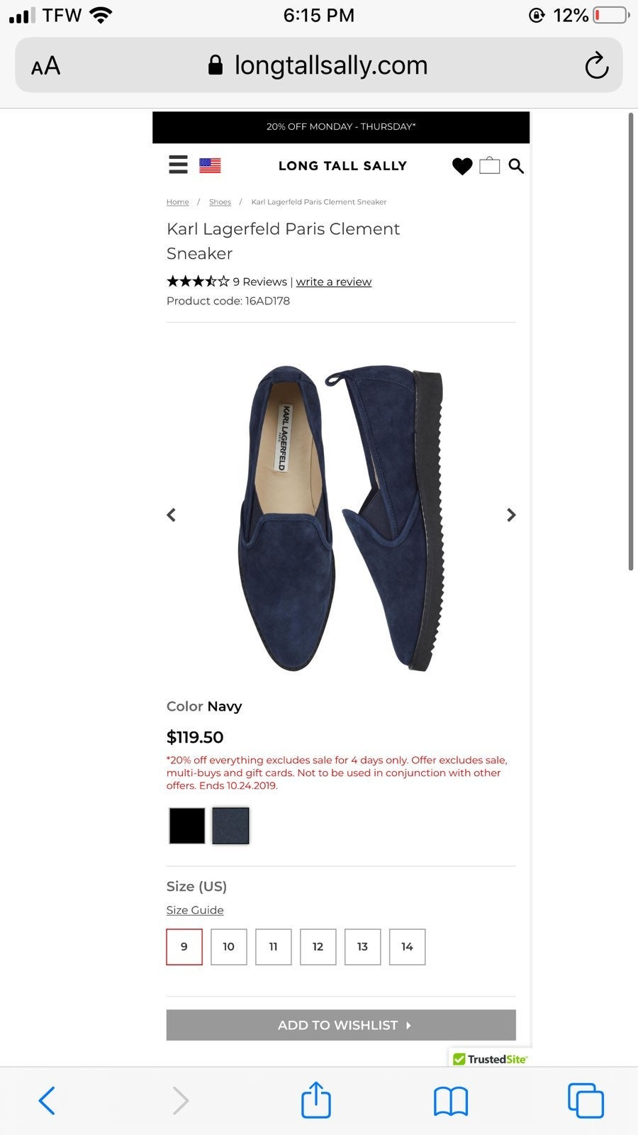 Karl Lagerfeld Blue Suede Loafers