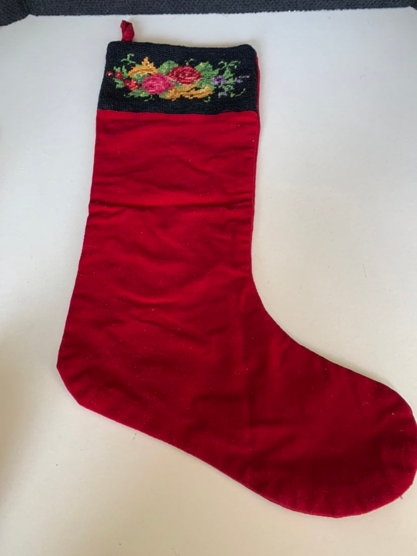Christmas stocking hand stitched top