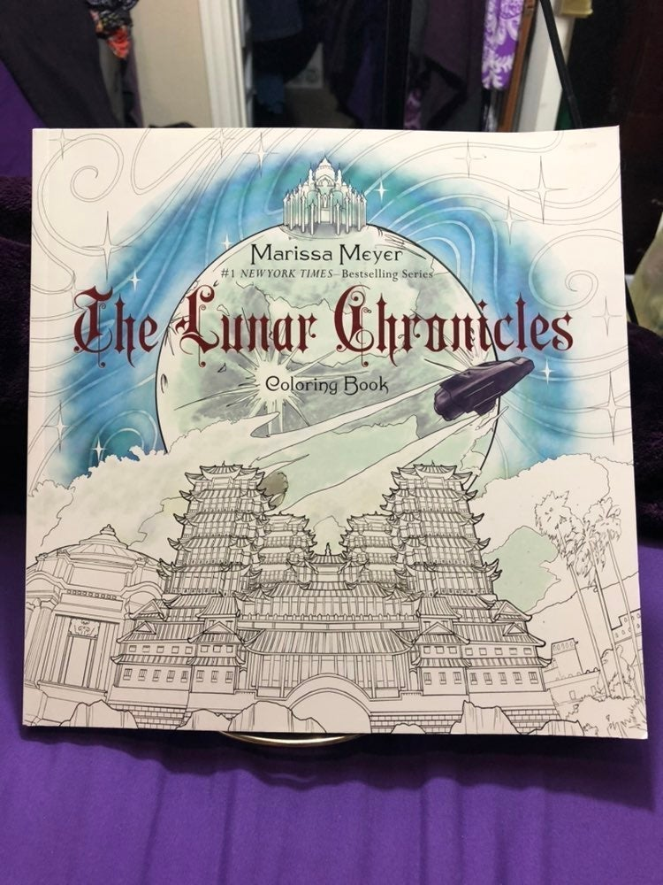 The lunar Chronicles adult coloring book