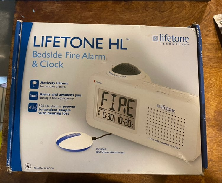 Lifetone HL Bedside Fire Alarm Clock New
