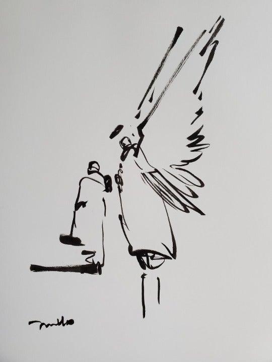 Original Jose Trujillo Ink Pen Sketch 02