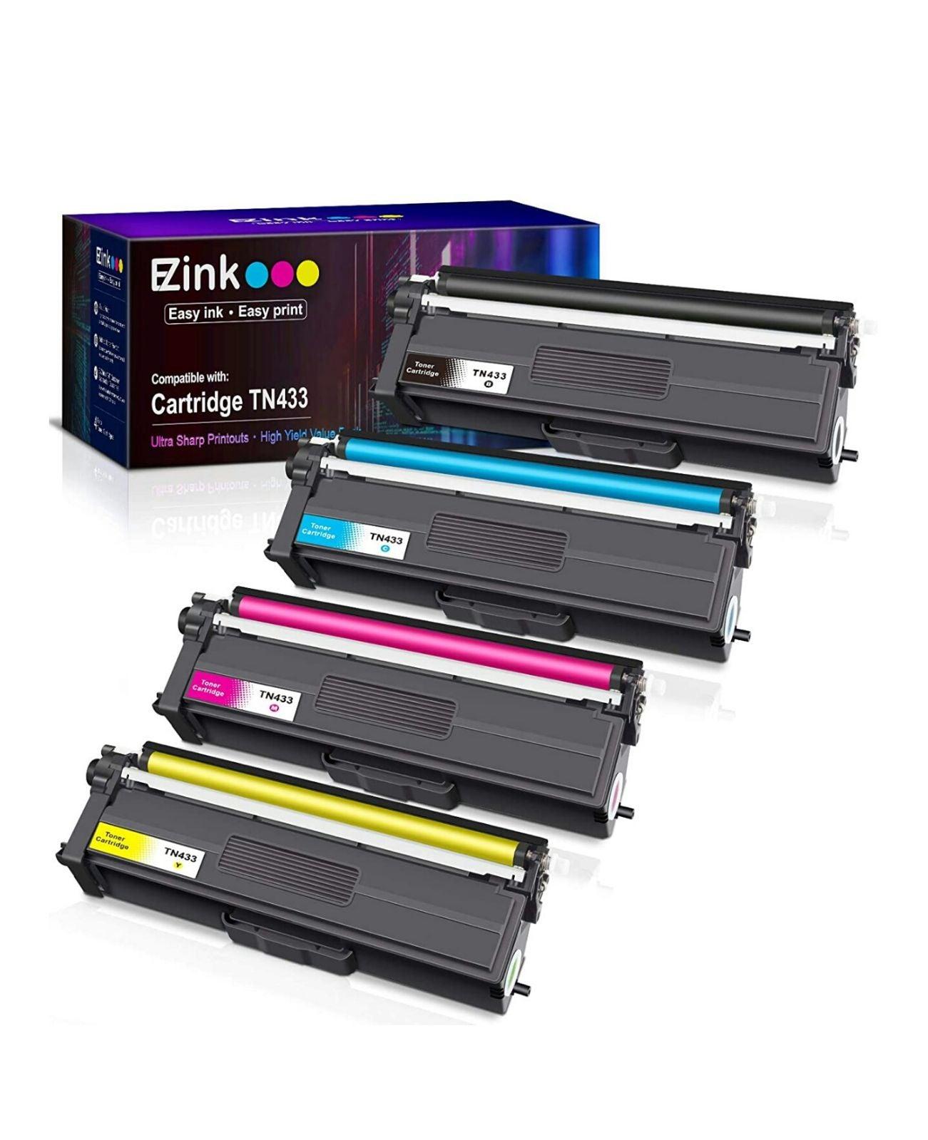 4pk EZ Ink Brother TN433 Toner Cartridge