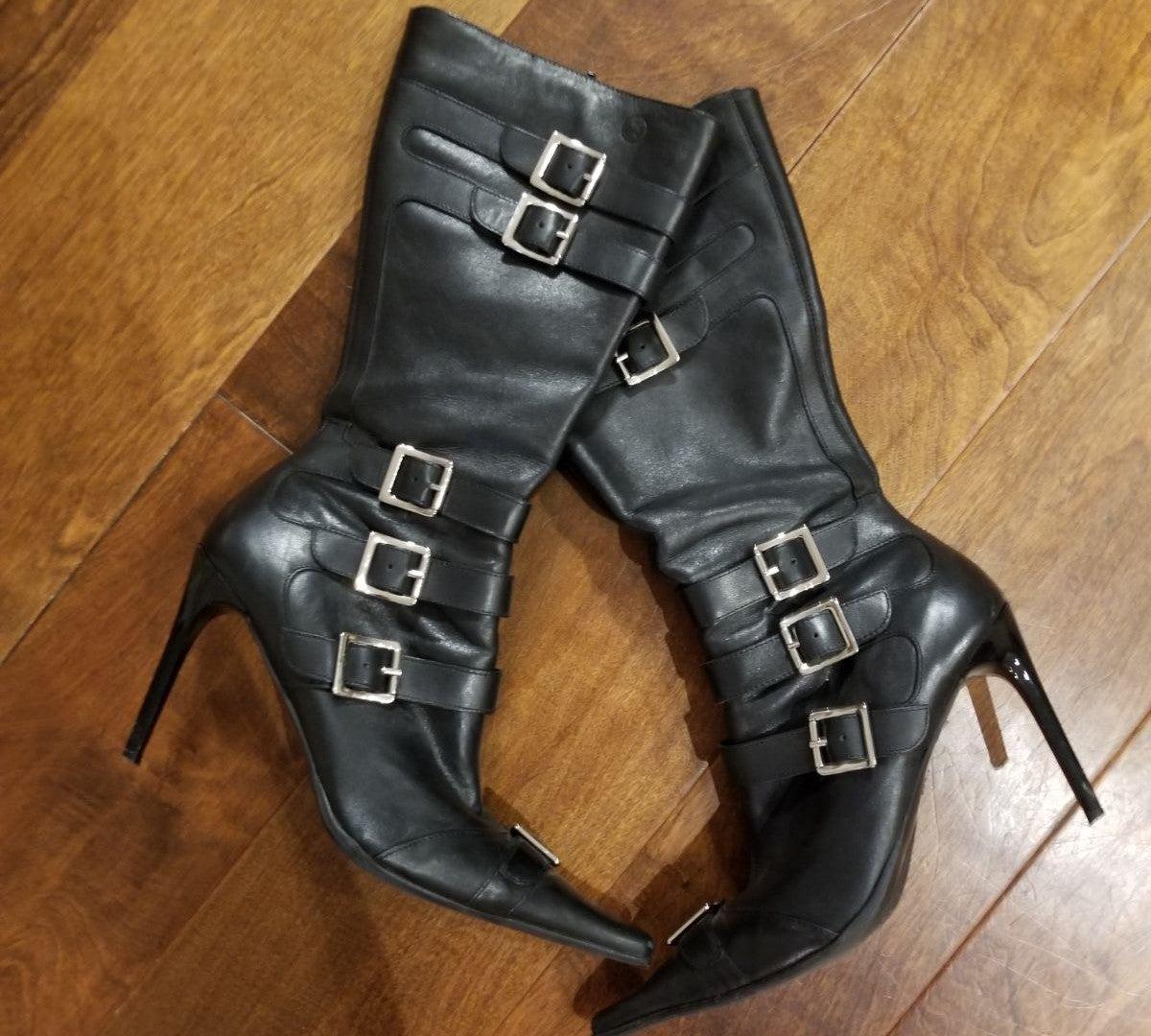 Black Stiletto Boots (Bronx)