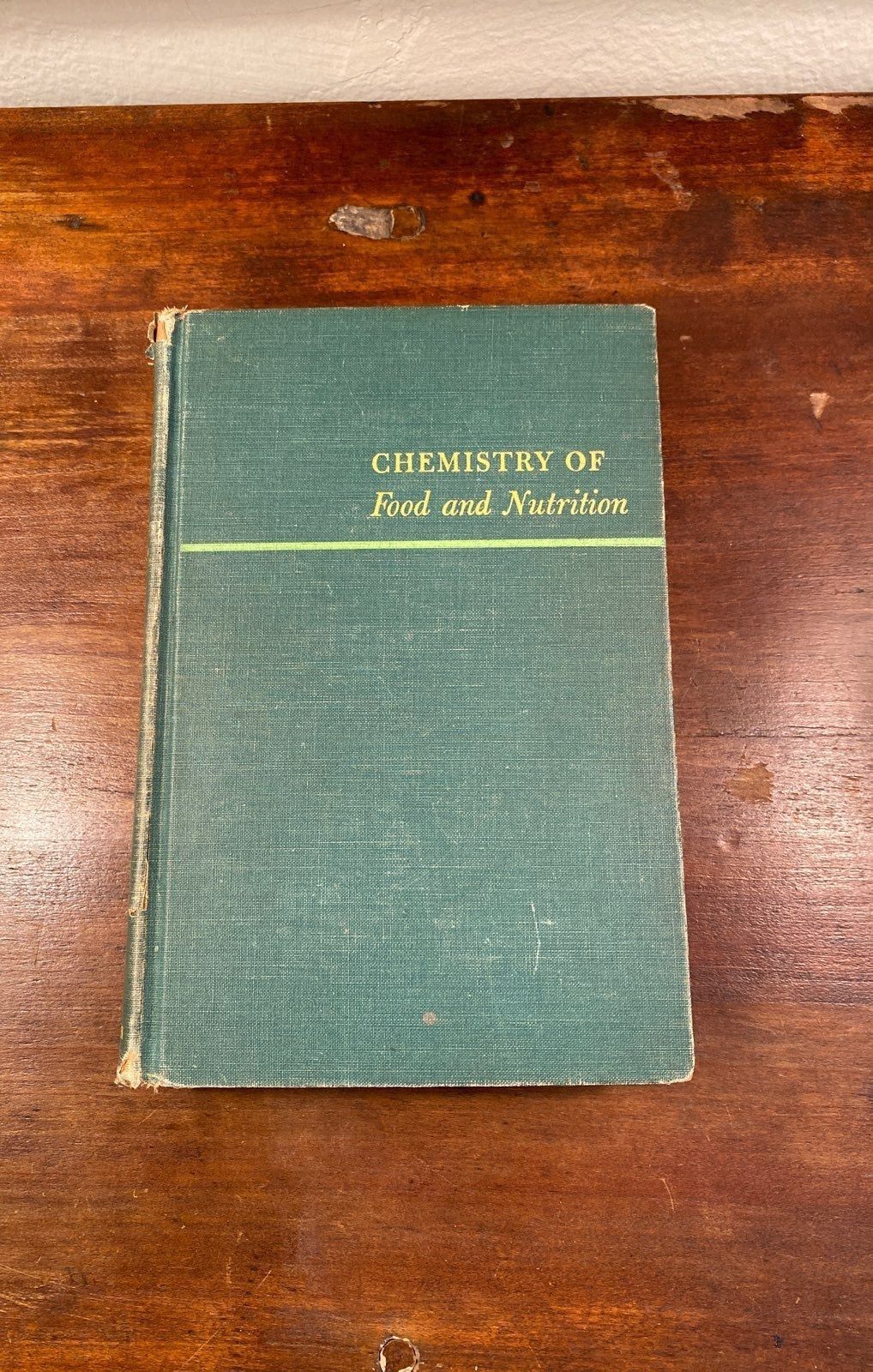 1952 Chemistry of Food and Nutrition
