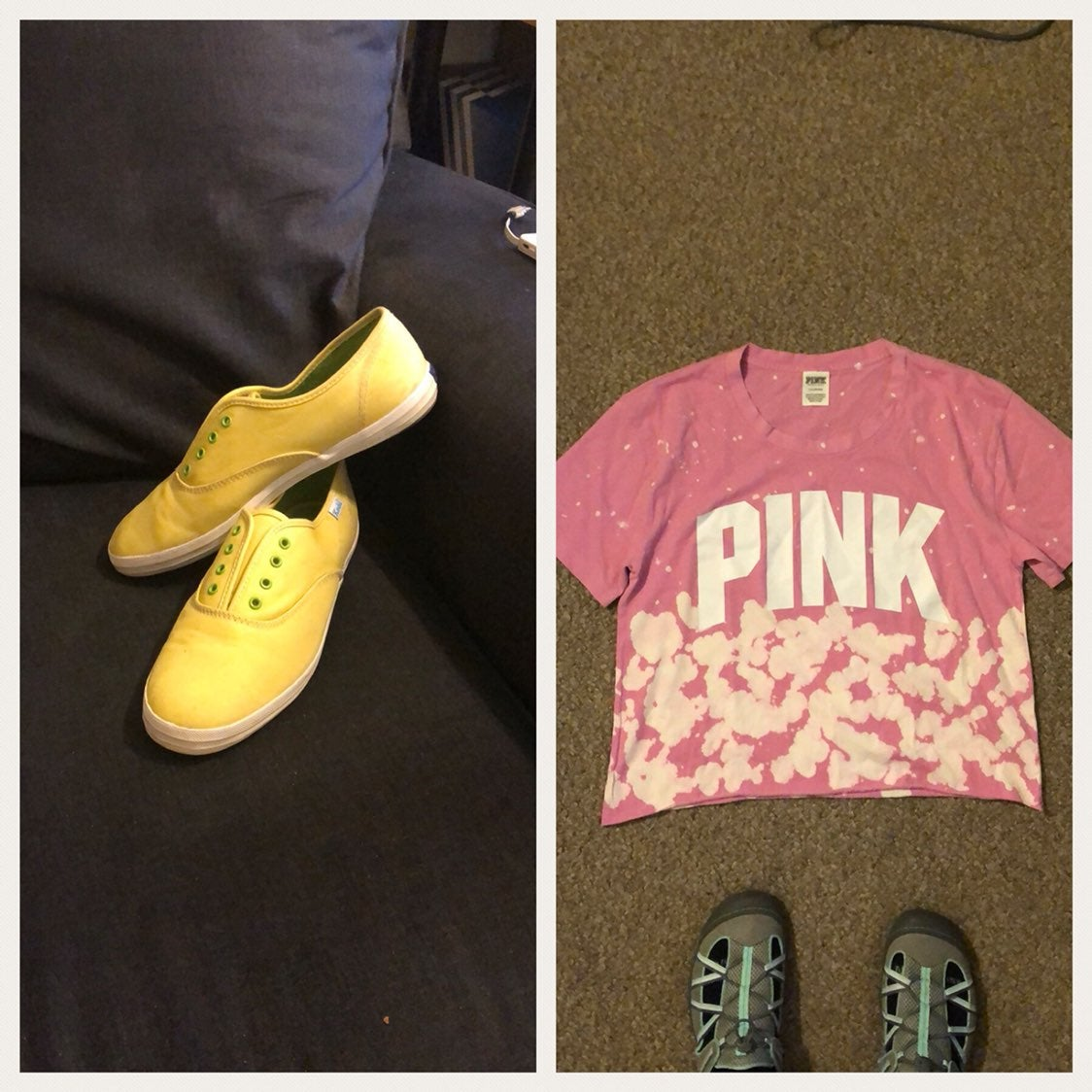 Women's Keds size 8  & Large Pink Crop