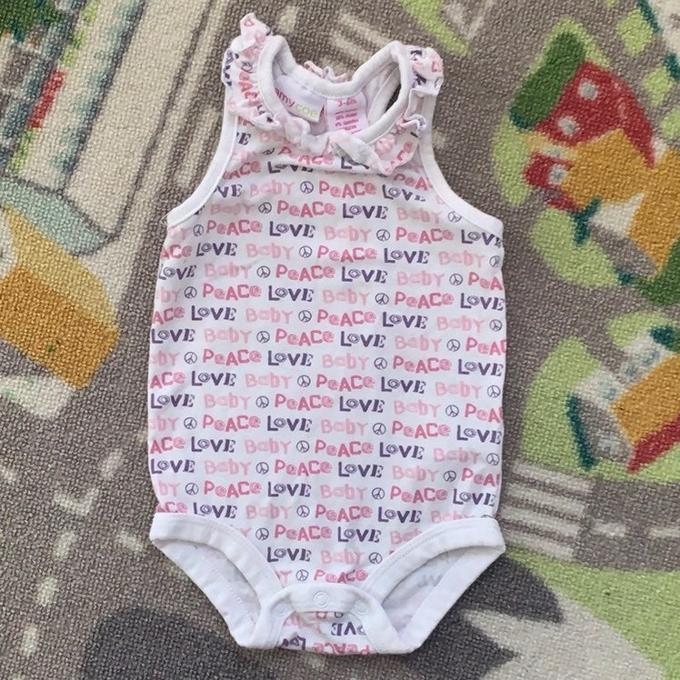 Racerback Onesie 3-6m Baby Girl