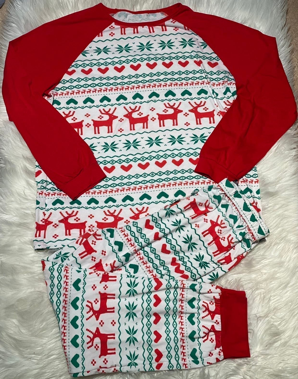PopReal Christmas pajamas Medium