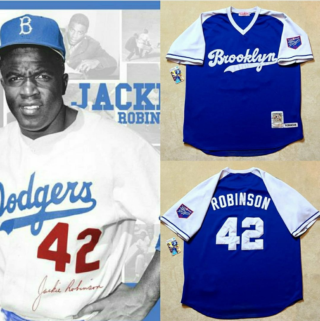 Jackie Robinson dodgers Jersey 1955 Sz-X