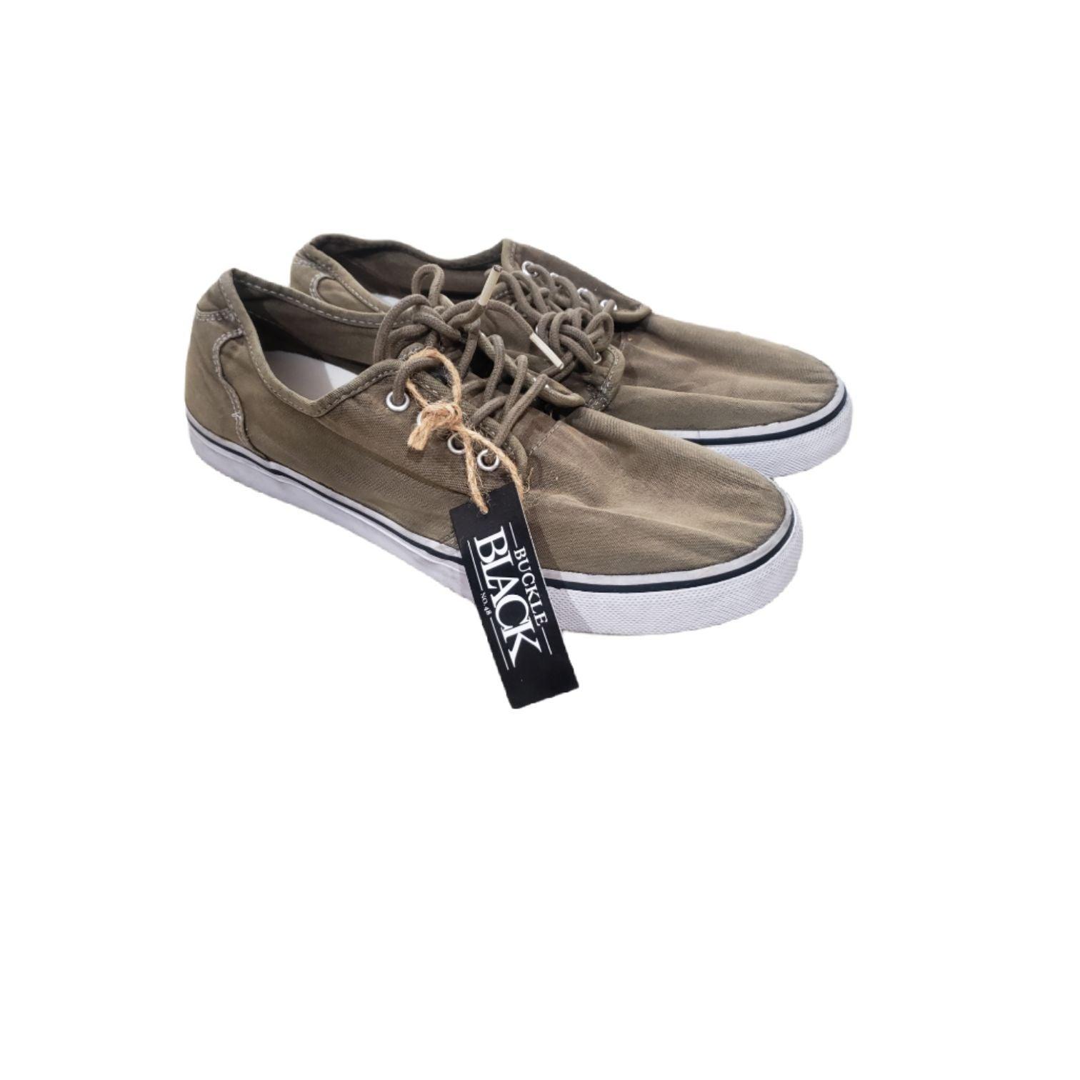 Buckle Black Sneakers NWt