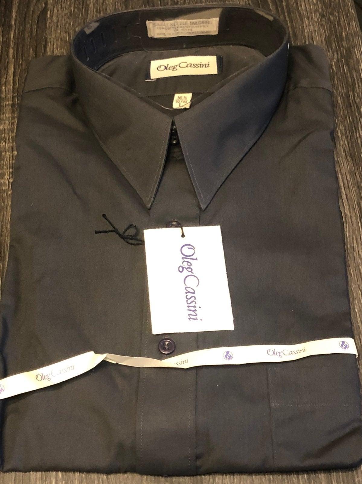 mens Oleg Cassini dress shirt L