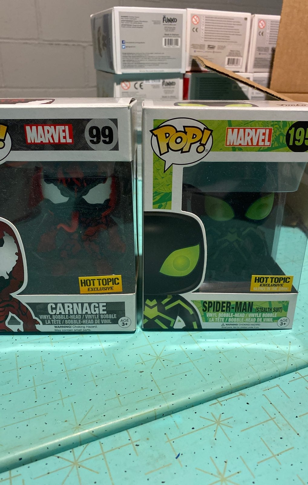Two marvel hot topic exclusive funko pop